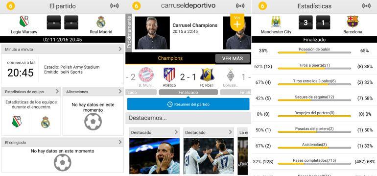 La app de Carrusel Deportivo