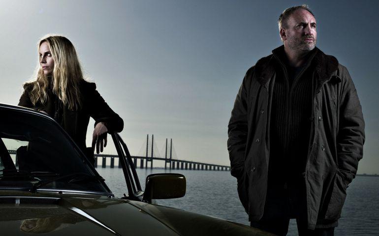 La sueca Sage Noren y el dañes Martin Rohde, los protagonistas de la serie 'Bron-Broen' ('El Puente')
