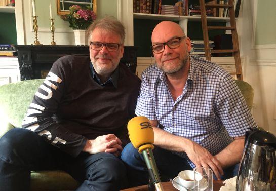 Michael Hjorth y Hans Rosenfeldt, durante la entrevista en la embajada de Suecia en Madrid