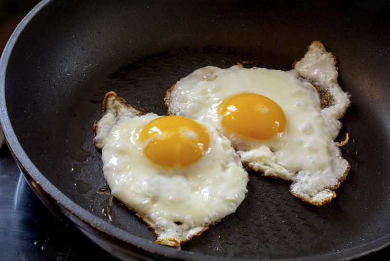 Huevos fritos.