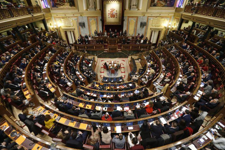 Imagen de la constitución de las cortes durante la pasada y fallida legislatura.