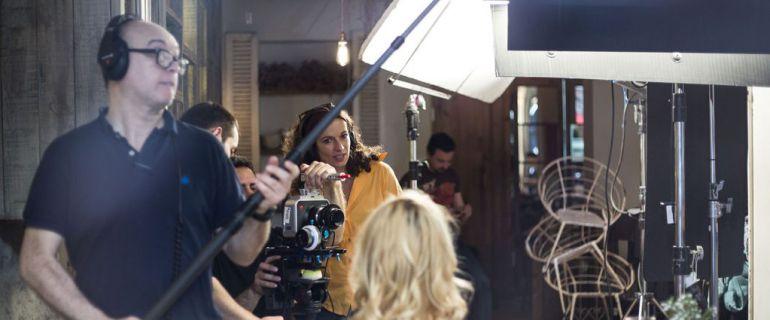 Momentos del rodaje del cortometraje 'Indetectables'.