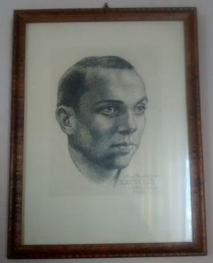 Retrato de Miguel Hernández dibujado por Buero