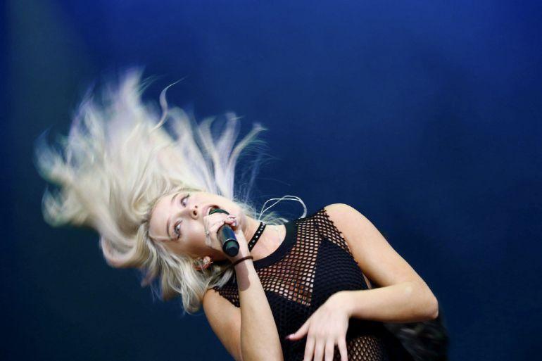 La cantante sueca Zara Larsson, durante su actuación en el Festival de Madrid DCODE.