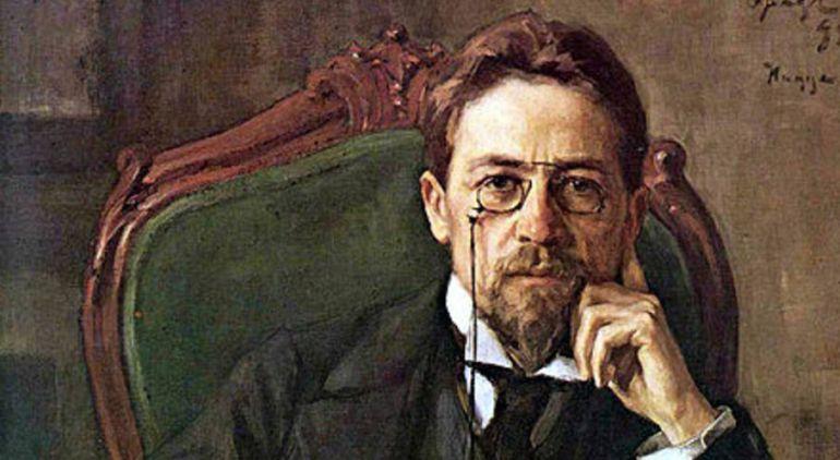 El escritor y dramaturgo naturalista ruso Antón Chéjov en un retrato.