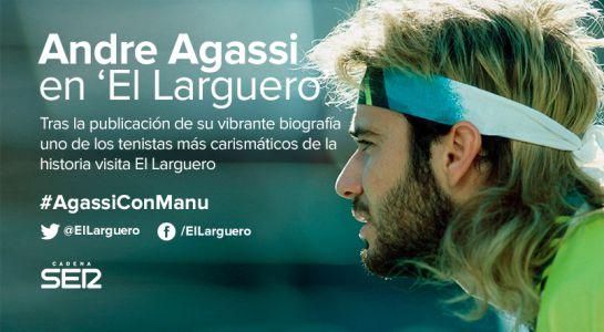 Andre Agassi, protagonista esta noche en El Larguero de Manu Carreño