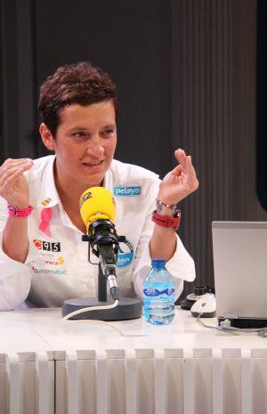 La luchadora y aventurera Marian Santiago durante la entrevista.
