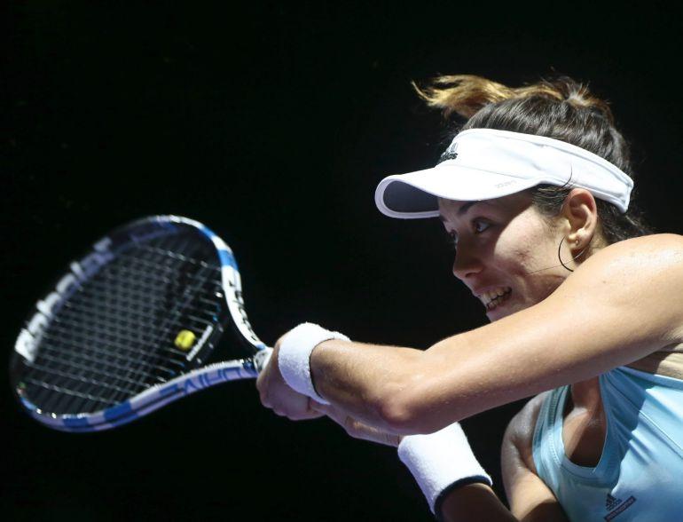 GAR37 SINGAPUR (SINGAPUR)- La tenista hispano-venezolana Garbiñe Muguruza