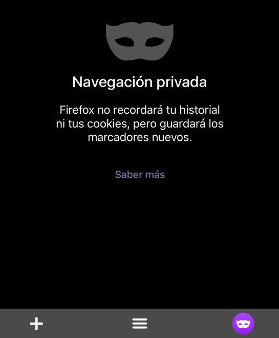 Activa siempre la navegación privada en tu navegador.