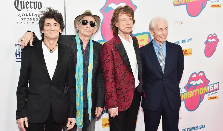 Los miembros de los Rolling Stones durante un acto promocional en noviembre de 2016
