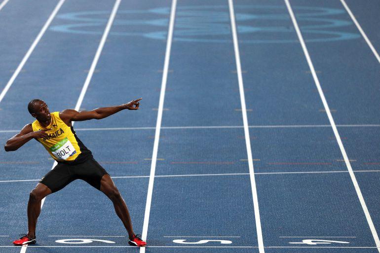 Usain Bolt celebra una victoria en Río 2016
