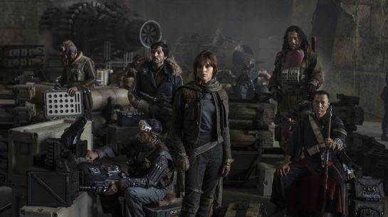 El grupo de Rebeldes de Rogue One.