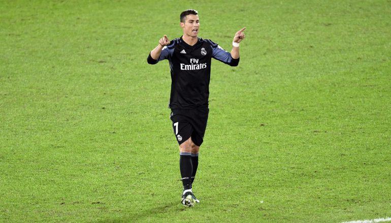 Cristiano Ronaldo, tras marcar en el Mundial de Clubes
