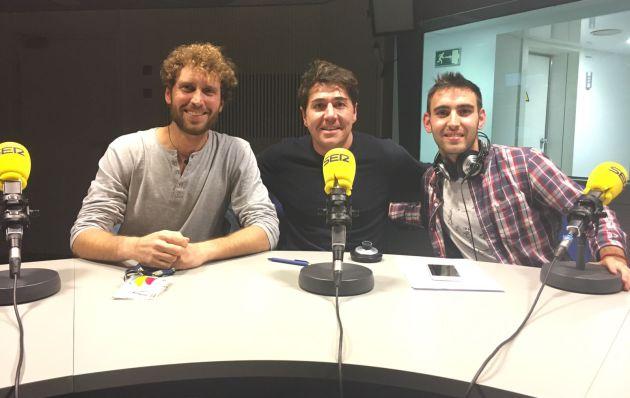 Javi Colorado, con Yago de Vega y Javi Sánchez.