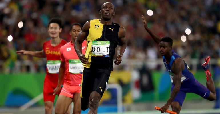 Usain Bolt, al terminar una carrera en los Juegos Olímpicos