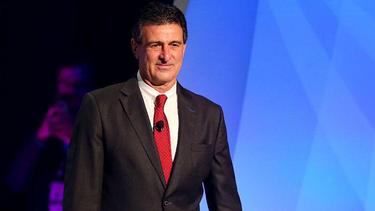 Mario Alberto Kempes, durante un acto de la Copa América Centenario