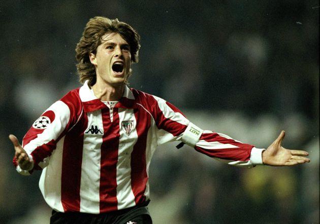 Imagen de archivo de Julen Guerrero celebrando un gol con la camiseta del Athletic
