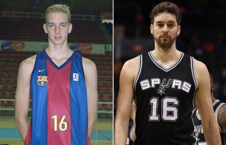 Paul Gasol, en 1999 y en el 2017