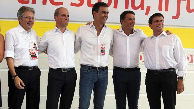 Reunión de líderes socialdemócratas en Bolonia en septiembre de 2014
