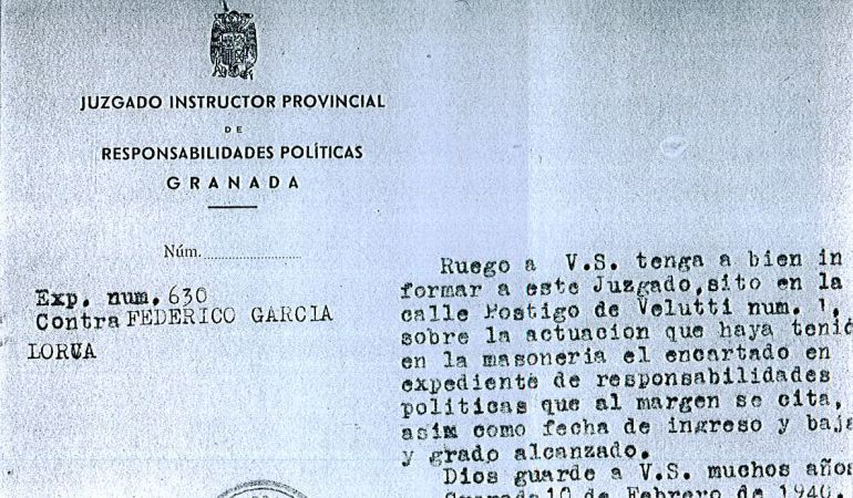 Consulta los documentos de la investigación sobre la muerte de Lorca