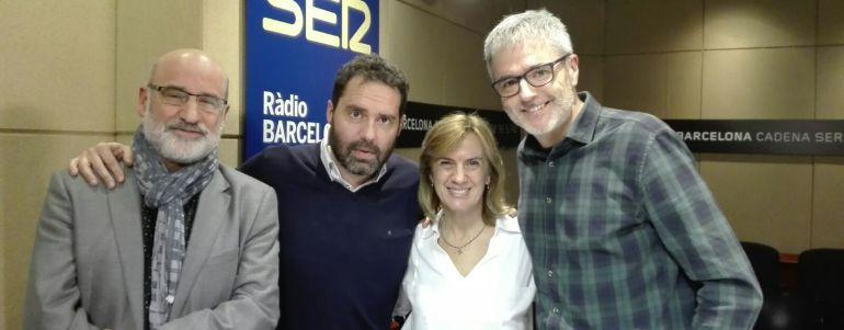 Desde la izquierda, el escritor, Fernando Aramburu, junto a Aitor Gabilondo, Gemma Nierga y Mikel Iturriaga.