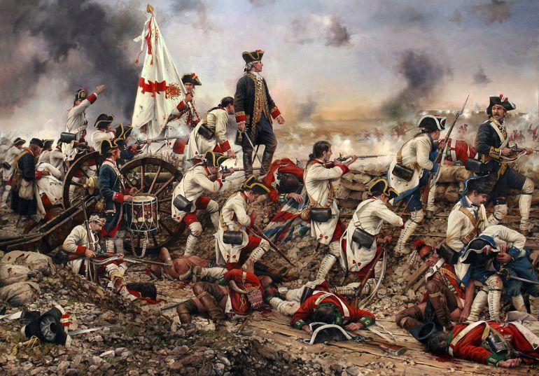 Por España y por el Rey, Gálvez en América. Momento de la batalla de Pensacola.