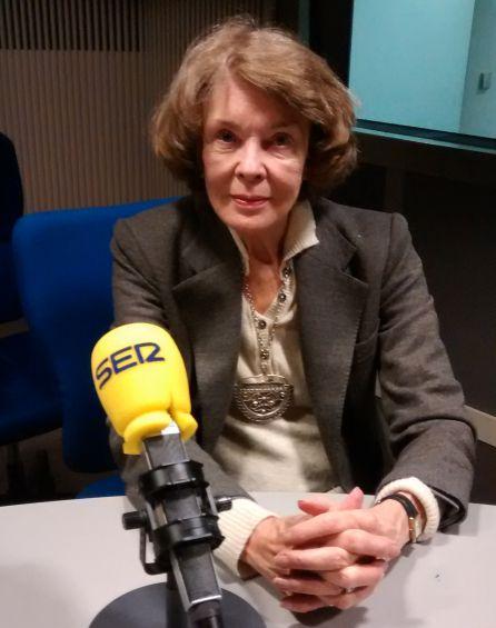 Susan George en los estudios de Radio Madrid