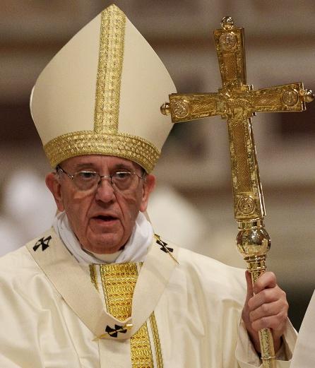 El Papa Francisco durante la misa del 800 aniversario de la orden de los Dominicos celebrada en la Basílica de San Pedro.