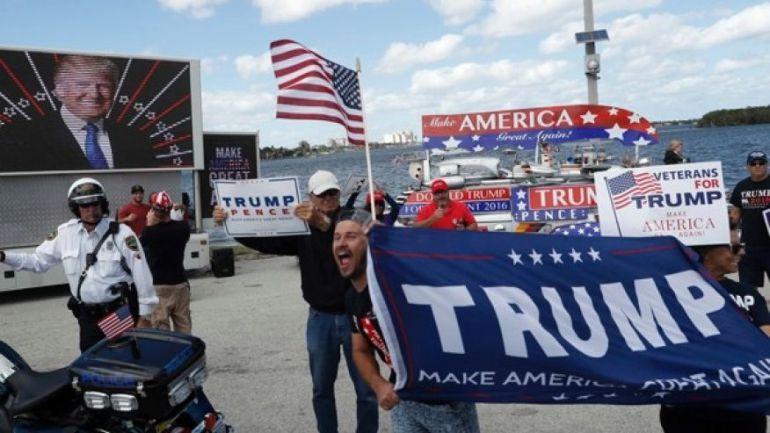 Imagen de simpatizantes de Donald Trump en Florida