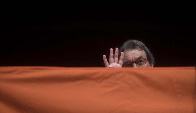 El expresidente de la Generalitat Artur Mas, durante su participación en un acto de Òmnium Cultural en Hospitalet de Llobregat