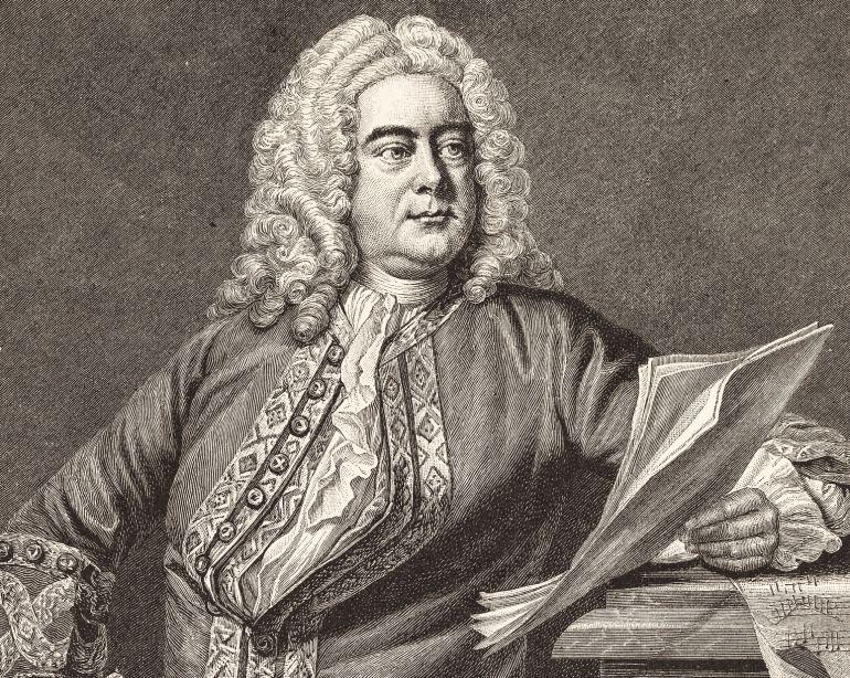 Grabado del compositor alemán Georg Friedrich Händel.