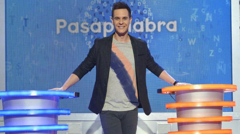 Christian Gálvez en el plató de Pasapalabra