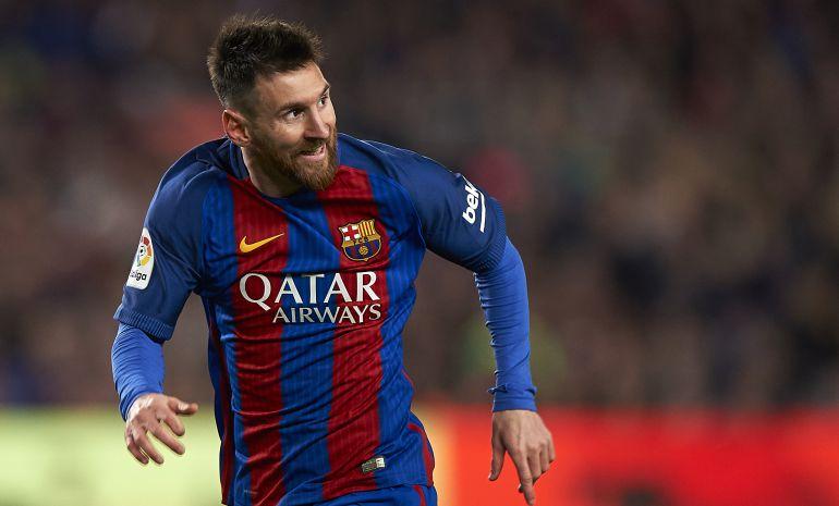 Leo Messi durante el partido ante el Valencia