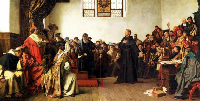 'Martín Lutero ante la Dieta de Worms', pintura de 1877