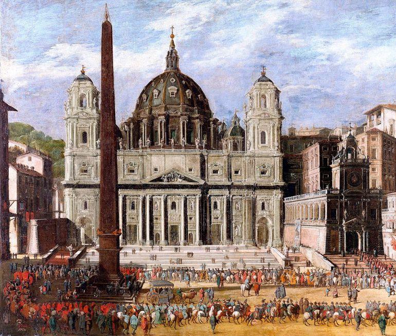 'Exterior de San Pedro en Roma' (1630), Museo del Prado.
