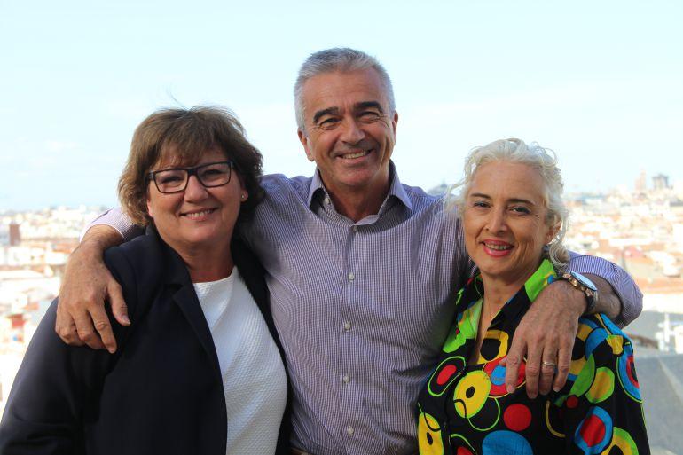 Olga Viza, Carles Francino y Mariola Cubells