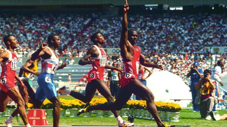 Ben Johnson, que dos días después dio positivo, batió a Lewis en Seúl '88