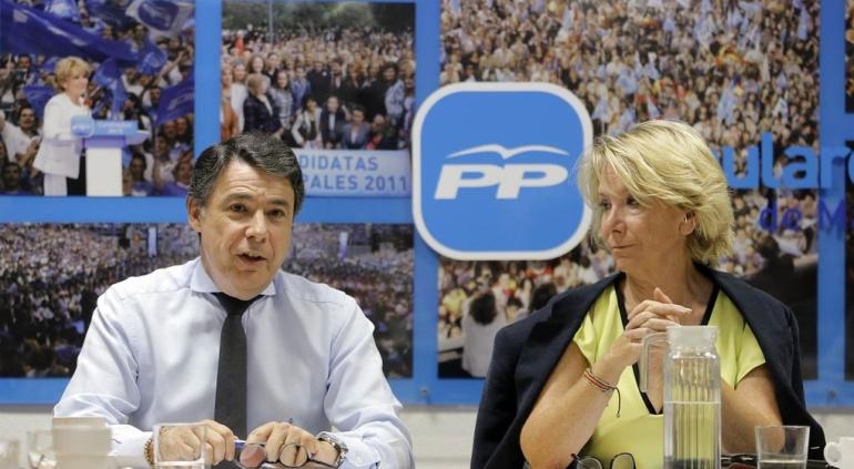 Ignacio González y Esperanza Aguirre en una imagen de archivo.