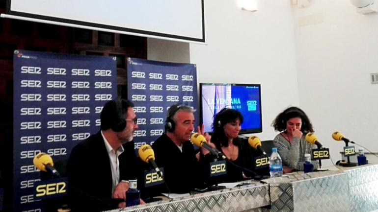 De izquierda a derecha, Miguel Lorente, Carles Francino, Marta Fernández y Chus Gutiérrez.