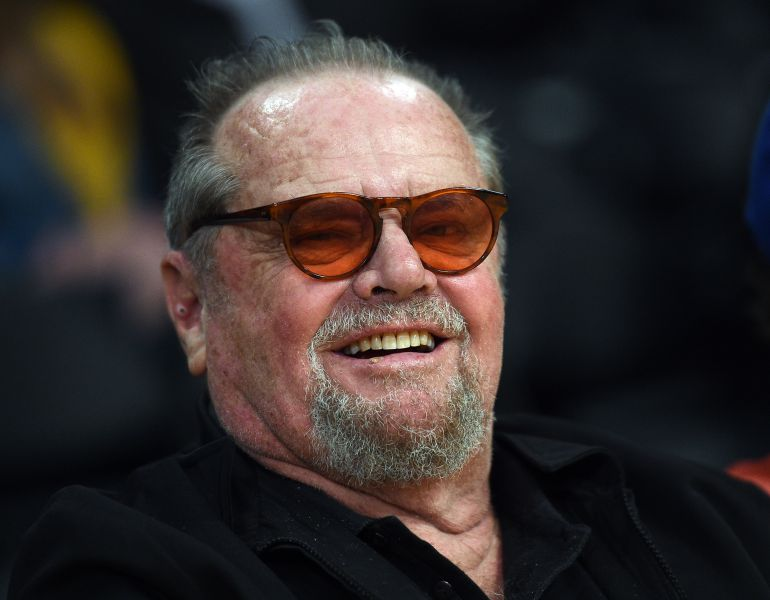 Jack Nicholson, en un partido de Los Angeles Lakers en marzo de 2017