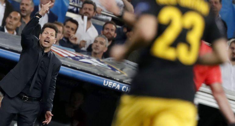 Diego Pablo Simeone, en la ida de semifinales de la Champions.