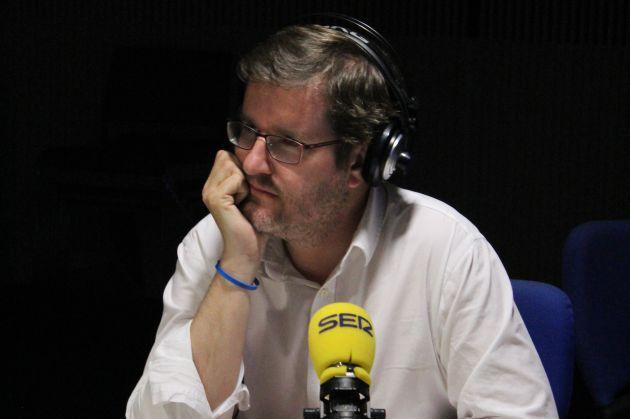 Rafael Simancas, en los estudios de la Cadena SER