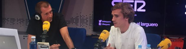 Griezmann, junto a Manu Carreño en El Larguero de la SER