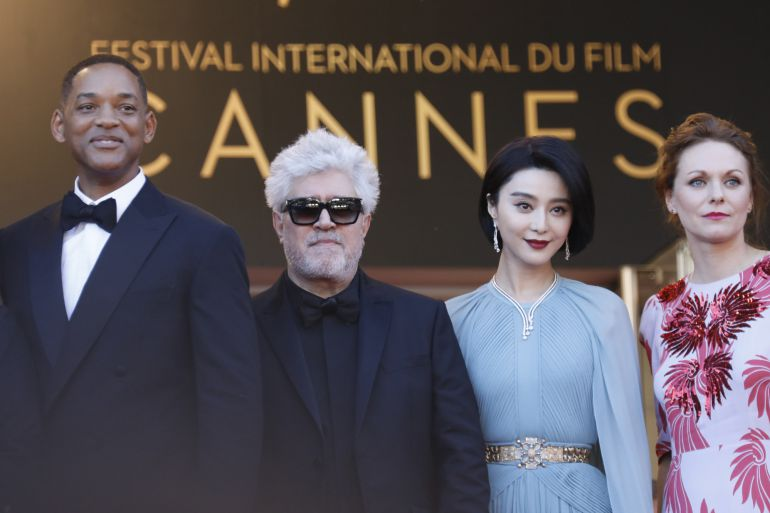 Will Smith, Pedro Almodovar, Fan Bingbing and Maren Ade en el Festival de Cannes