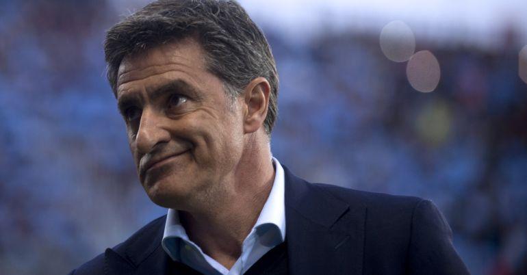 Míchel, durante un partido del Málaga de la presente temporada