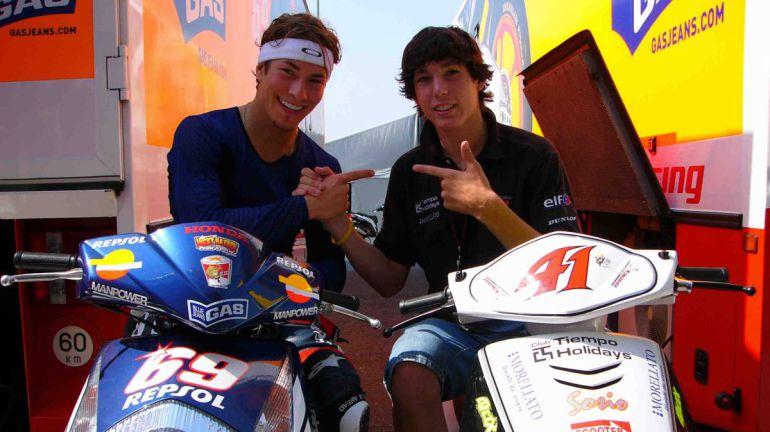 Hayden y Espargaró cuando el piloto español tenía 15 años