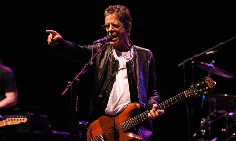 Lou Reed durante una de sus últimas actuaciones en Londres en 2011