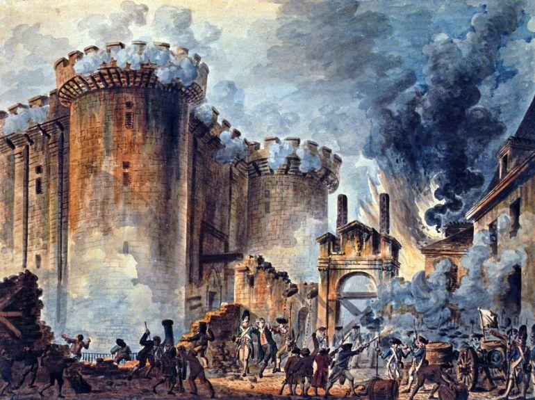 Pintura de lo ocurrido tres días después, el asalto a la Bastilla. Obra de Jean-Pierre Houël.
