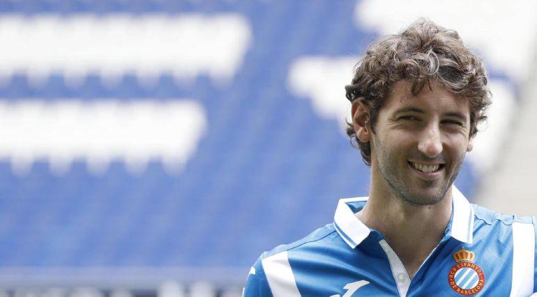 El centrocampista Esteban Granero, durante el acto de presentación