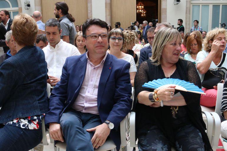 Pla mig del coordinador d'EUiA i diputat de CSQP Joan Josep Nuet a l'auditori del Parlament el 4 de juliol del 2017. (horitzontal)